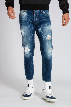 15 cm Skinny Destroyed Denim Jeans