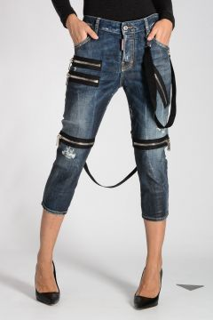16cm Stretch denim COOL GIRL CROPPED Jeans