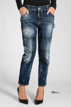 Stretch Denim COOL GIRL CROPPED Jeans 17 cm