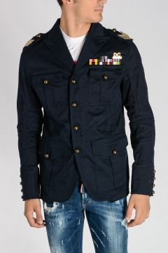 GOLDEN ARROW Cotton Stretch Military Jacket