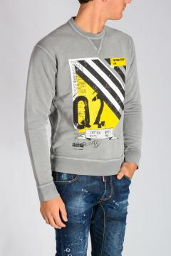 Printed Cotton Jersey Sweatshirt