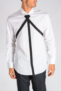 Webbing Straps Cotton Poplin Shirt