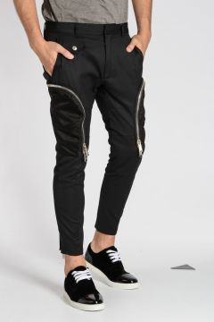 Cotton Stretch and Virgin Wool Pants