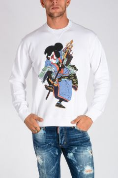Samurai Printed Cotton Jersey Sweatshirt