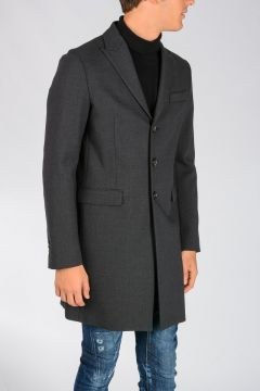 Stretch Virgin Wool Coat