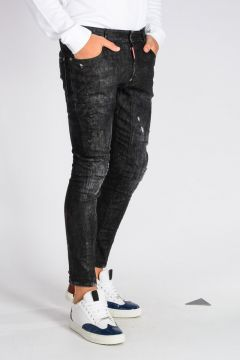 Jeans TIDY BIKER in Denim di Cotone Stretch 15 cm