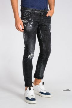 Jeans CLEMENT in Denim di Cotone Destroyed 15 cm