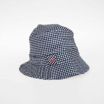 Polka Dot Silk Blend Hat