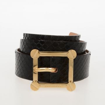 35 mm Reptile Leather Belt