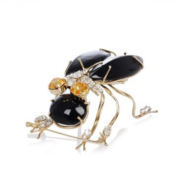 Fly Brooch with Stones