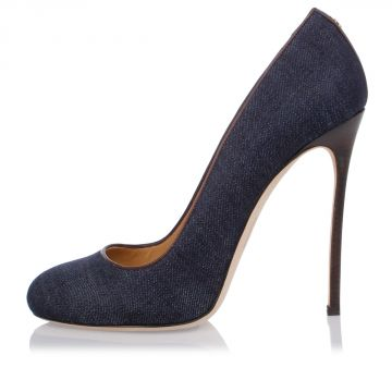 Denim Pumps 12 cm