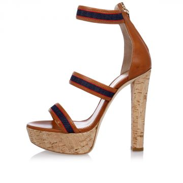 Cork and Leather Sandals