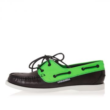 Leather Boat Fluo Espadrillas