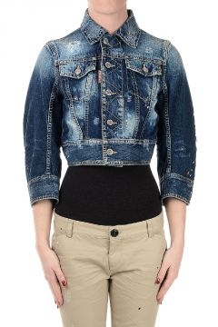 Denim Jacket with 3/4 Sleeves