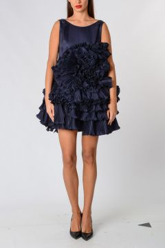 Silk frill Dress