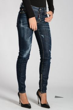 Stretch Denim MEDIUM WAIST SKINNY Jeans 12 cm