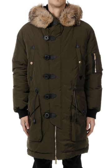 Down Coat hooded with Fur
