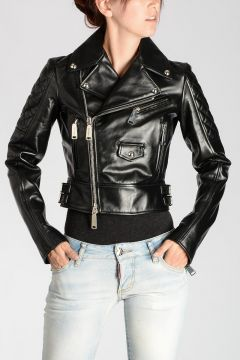 ICON Leather Cropped Biker Jacket
