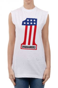 Crew Neck ICON Sleeveless T-shirt With Logo