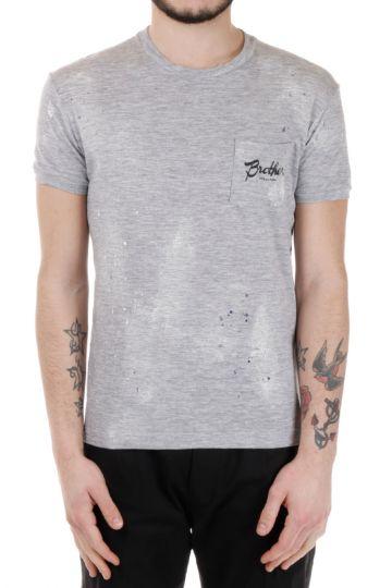 T-Shirt in Misto Cotone