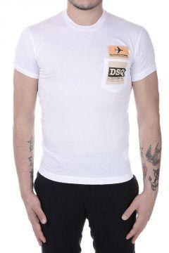 T-Shirt in Misto Cotone con Taschino