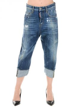 Jeans Cropped KAWAII in Denim 20 cm