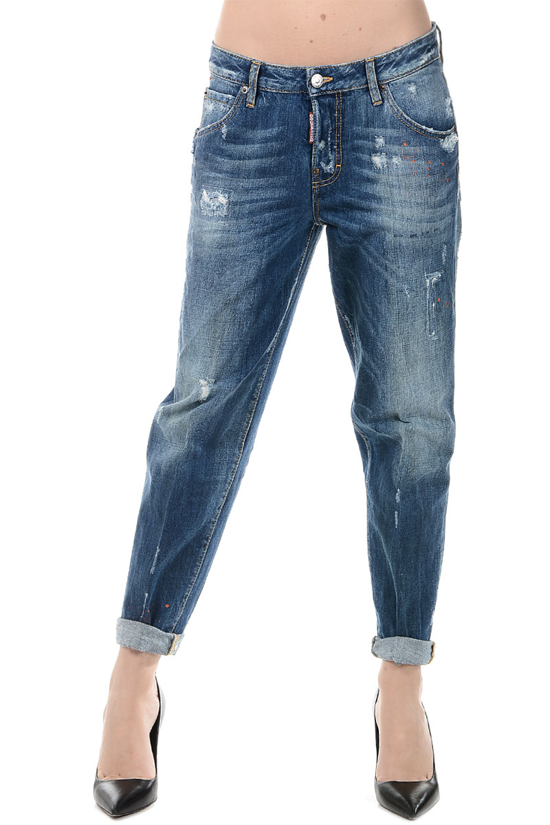 dsquared2 women denim 5 pockets hockney jeans 14cm glamood outlet. Black Bedroom Furniture Sets. Home Design Ideas