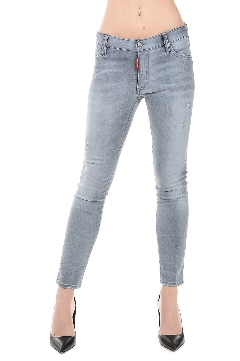 dsquared2 women stretch denim jeans 14 cm glamood outlet. Black Bedroom Furniture Sets. Home Design Ideas