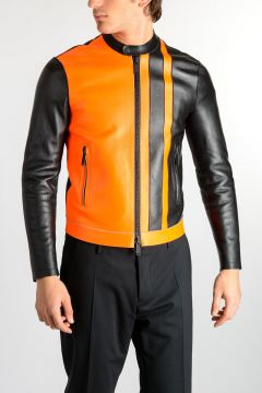 Bicolor Leather Jacket