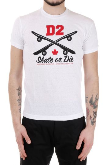 T-Shirt girocollo Stampata in cotone