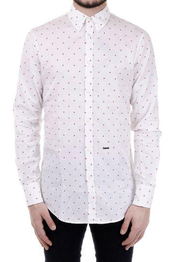 Camicia in Cotone con ricami