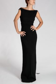 Stretch Viscose Maxi LITTLE BLACK DRESS
