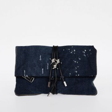 BABY WIRE Denim Clutch Bag