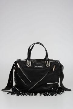 CHIODO Leather Fringed Shopping Bag