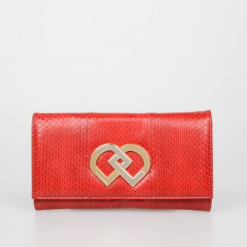 Leather DD Clutch Bag
