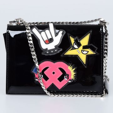 Borsa a Tracolla con Patch Punk
