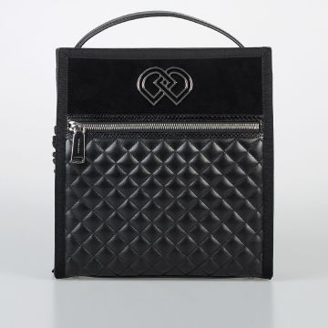 Leather Bag with Snake Skin Details