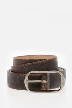 Cintura in Pelle Effetto Vintage 30mm