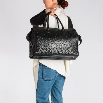 Studded Leather Duffle Bag