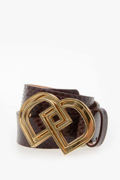 35mm Reptile Leather Belt