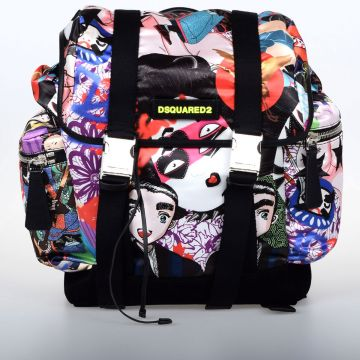 Manga Punk Print Backpack