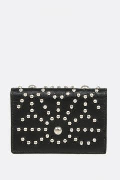 Studded Leather Card Holder
