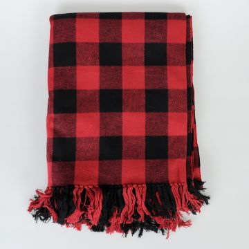 Canadian Checked Poncho