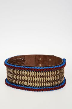 Leather COIN Wide Belt 100 mm