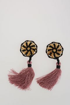 Samurai Earrings With Tassel
