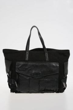 Leather Fabric SHOPPING Bag
