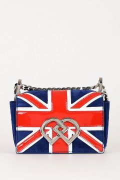 Union Jack Suede Mini Shoulder Bag