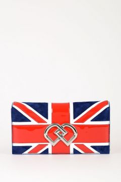Union Jack Suede Clutch Bag