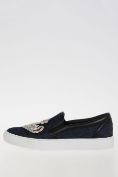 Sneakers 70's GLAM PATCH in Denim Ricamato