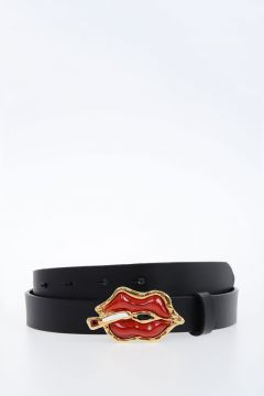 25mm Leather Belt with Kiss